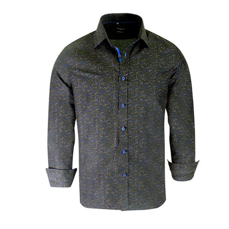 Kelvin True Modern Fit Dress Shirt // Black (S)