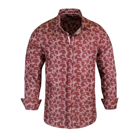 Dallas True Modern Fit Dress Shirt // Burgundy (S)