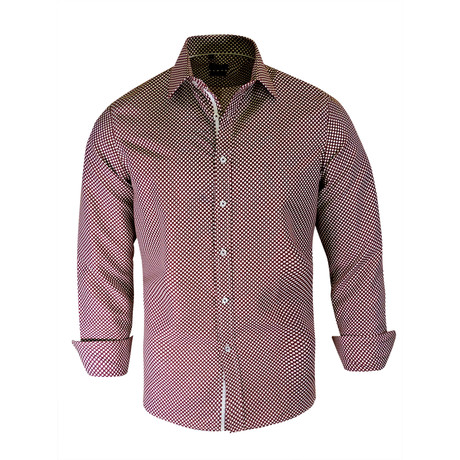 Malik True Modern Fit Dress Shirt // Burgundy (S)