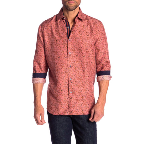 Jewell True Modern Fit Dress Shirt // Peach (S)