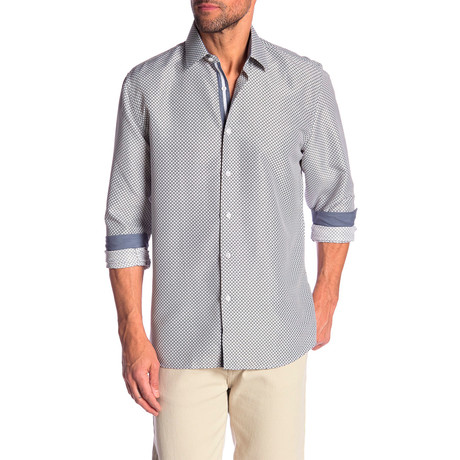 Lacy True Modern Fit Dress Shirt // Slate Blue + White (S)