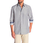 Lacy True Modern Fit Dress Shirt // Slate Blue + White (M)
