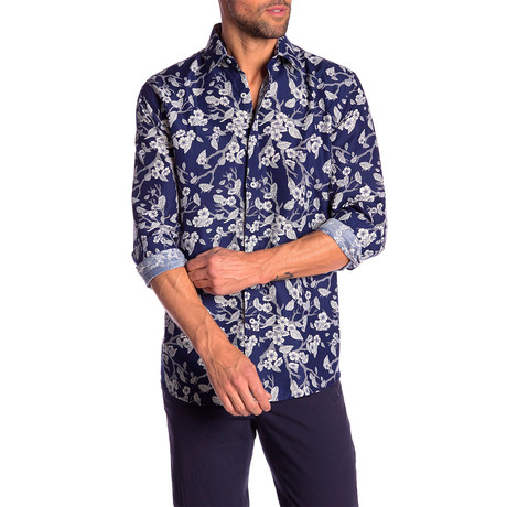 Jerry True Modern Fit Dress Shirt // Navy (S)