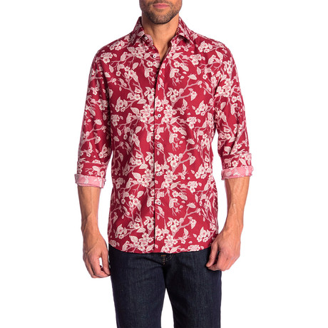 Rosendo True Modern Fit Dress Shirt // Red (S)