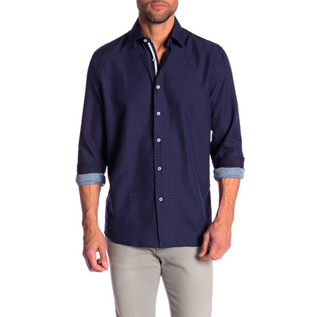 Garth True Modern Fit Dress Shirt // Navy (S)