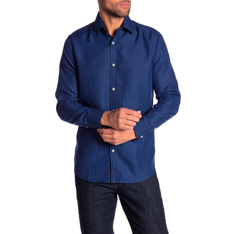 Ross True Modern Fit Dress Shirt // Navy Blue (S)