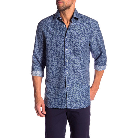 Otis True Modern-Fit Dress Shirt // Blue (S)