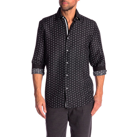 Toby True Modern Fit Dress Shirt // Black (S)