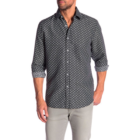 Kory True Modern-Fit Dress Shirt // Charcoal (M)