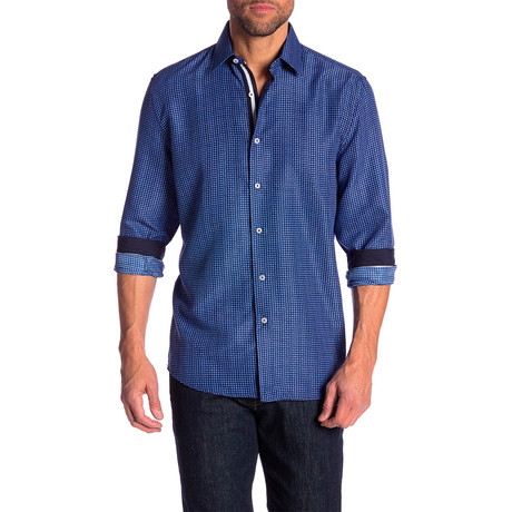 Stewart True Modern Fit Dress Shirt // Blue (S)
