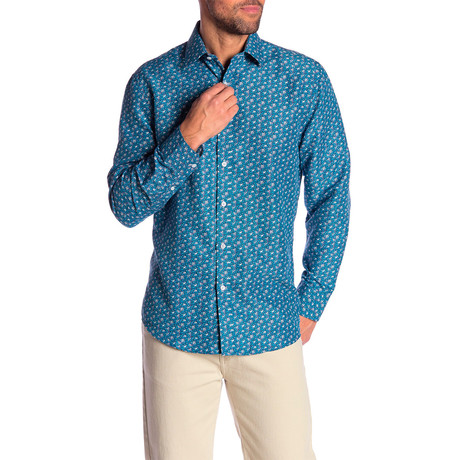 Mac True Modern Fit Dress Shirt // Turquoise (S)