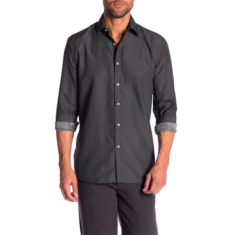 Wiley True Modern Fit Dress Shirt // Dark Gray (S)