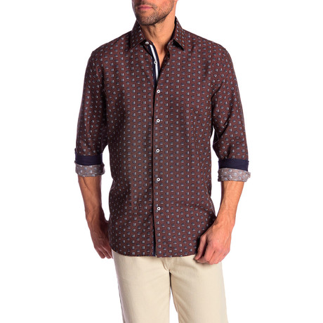 Mike True Modern-Fit Dress Shirt // Multicolor (S)