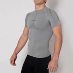 Iron-Ic // 2.1 Short Sleeve Shirt // Gray Melange (S/M)