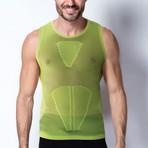 Iron-Ic // 4.0 Extra Light Sleeveless Shirt // Lime Yellow (S/M)