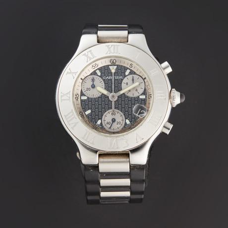 Cartier Must 21 Chronoscaph Quartz // 2424 // Pre-Owned