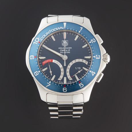 Tag Heuer Aquaracer Cailbre S Regatta Chronograph Quartz // CAF7110.BA0803 // Pre-Owned
