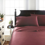 Signature Bamboo Collection Sheet Set // Burgundy (Twin)