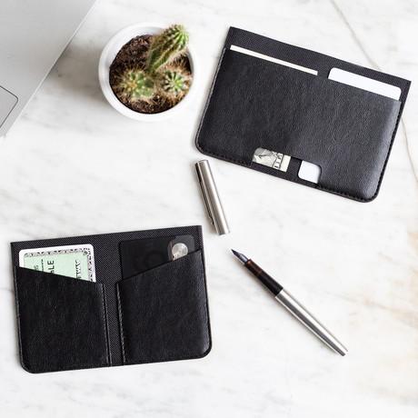 FOLD // Travel + Foldable Wallet (Black)