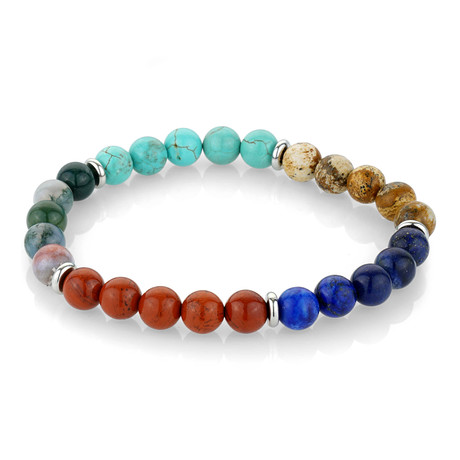 Genuine Beaded Bracelet // Multicolor