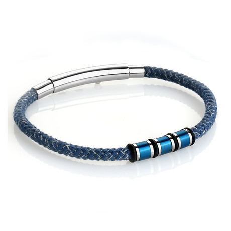Denim Adjustable Cord Bracelet
