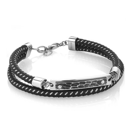 ID Plate Double Layer Bracelet