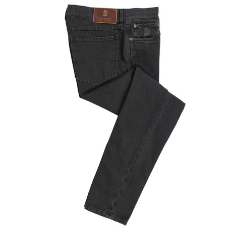 Brunello Cucinelli // Cotton Denim Five Pocket Jeans // Gray (44)