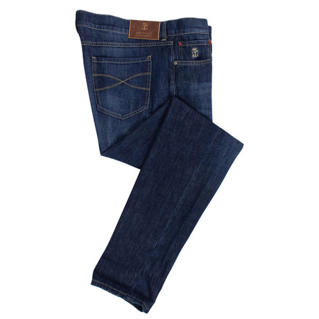 Brunello Cucinelli // Faded Denim Jeans // Indigo Blue (44)