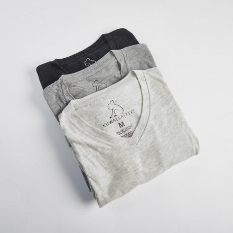 V-Neck Pepper Short-Sleeve Tee // Gray + Dark Gray + Black // Pack of 3 (S)