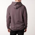 Mock Neck Hoodie // Charcoal (XL)