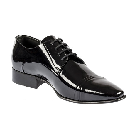 Ruthan Leather Dress Shoes // Shine Black (Euro: 37)