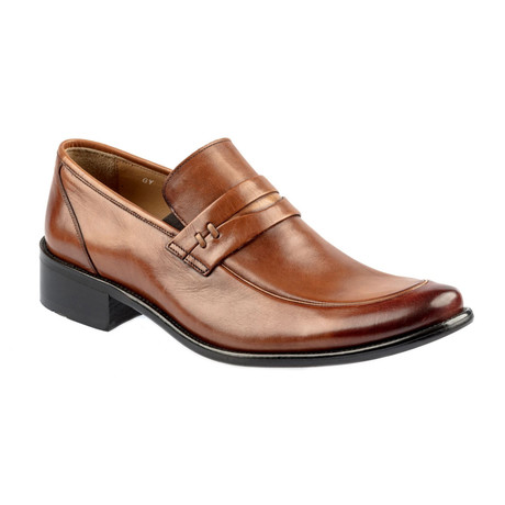 Egil Leather Loafers // Tobacco (Euro: 37)
