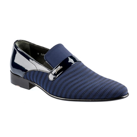 Gorman Contrast Loafers // Navy Blue (Euro: 37)