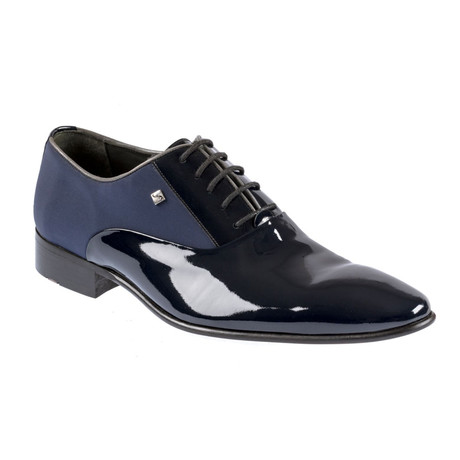 Jiro Contrast Dress Shoes // Navy Blue (Euro: 37)