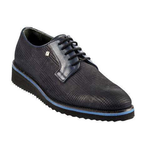 Otharon Leather Modern Dress Shoes // Navy Blue (Euro: 37)