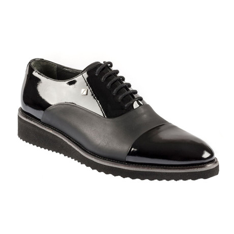 Nopon Contrast Modern Dress Shoes // Black (Euro: 37)