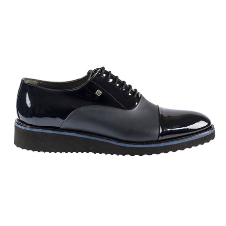 Oleksy Contrast Modern Dress Shoes // Navy Blue (Euro: 37)