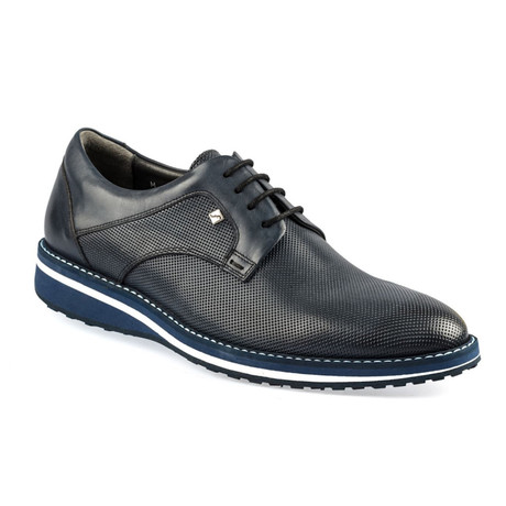 Bana Leather Modern Dress Shoes // Navy Blue (Euro: 37)
