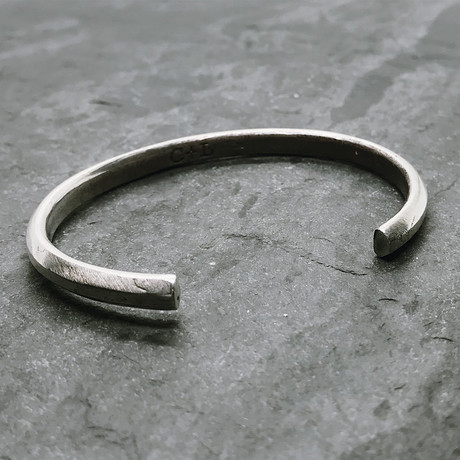Geo Cuff in Oxidized Silver