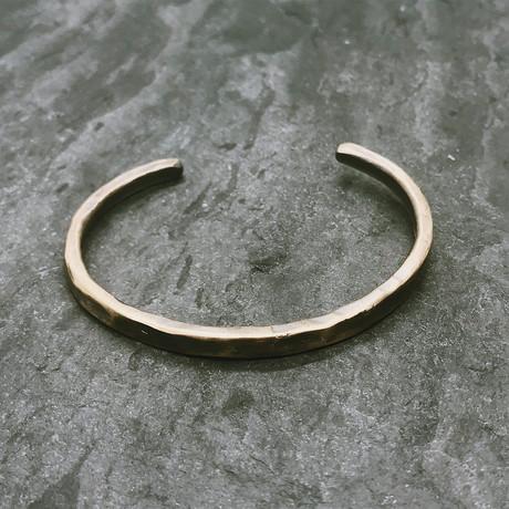 Hammered Cuff in Antiqued Brass