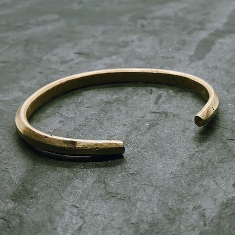 Geo Cuff in Antiqued Brass
