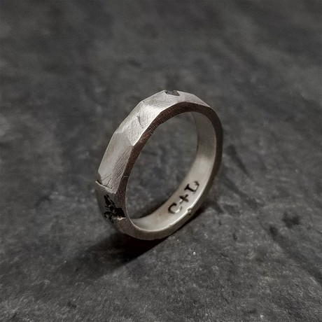 Faces Stacker Ring in Oxidized Silver (5)