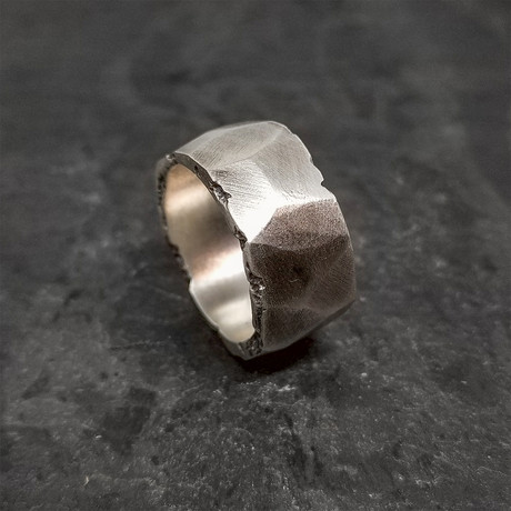 Faces Ring in Oxidized Silver (5)