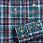 Allen // Green + Multicolor Plaid (Small (Skinny))