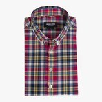 Allen // Pink + Multicolor Plaid (X-Large (Broad))