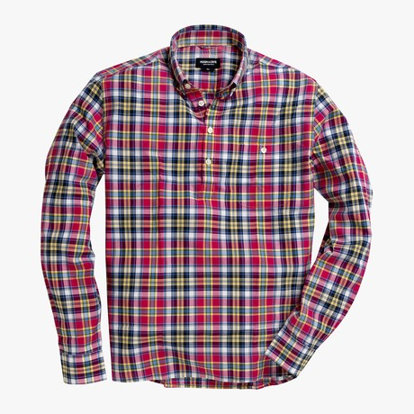 Allen // Pink + Multicolor Plaid (Small (Skinny))