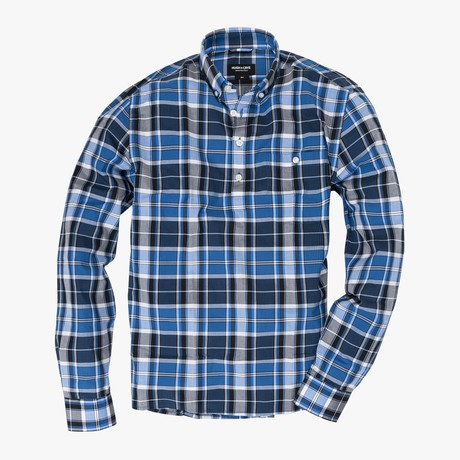 Fox // Blue Stripe Plaid (Small (Skinny))