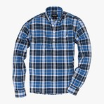 Fox // Blue Stripe Plaid (Medium (Slim))