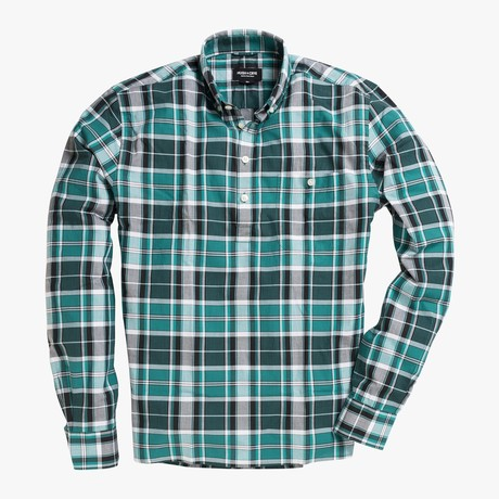 Fox // Green Stripe Plaid (Small (Skinny))