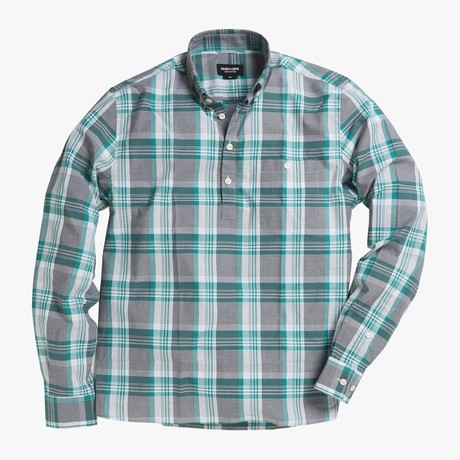 Lee // Green Stripe + Checkered Plaid (Small (Skinny))